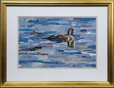 Lot 22 - DUCK ON THE WATER, A COLLAGE BY PAUL BARTLETT