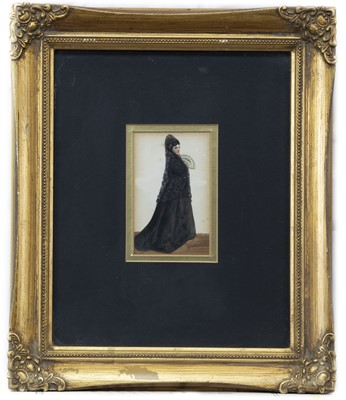 Lot 25 - A PAIR OF WATERCOLOURS OF A WOMAN IN BLACK