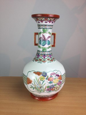 Lot 20 - A LATE 19TH CENTURY CHINESE FAMILLE ROSE VASE