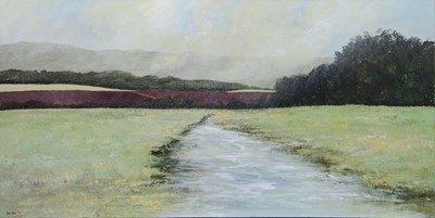 Lot 617 - SUSSEX STREAM, AN OIL BY PHILIP RASKIN