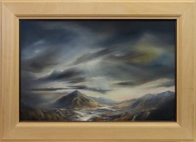 Lot 623 - ETIVE MOR, AN OIL BY DOUGLAS ROULSTON
