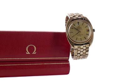 Lot 739 - A GENTLEMAN'S OMEGA CONSTELLATION ROLLED GOLD AUTOMATIC WRIST WATCH