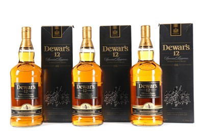 Lot 19 - THREE LITRE BOTTLES OF DEWAR'S 12 YEARS OLD