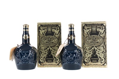 Lot 21 - TWO LITRES OF CHIVAS REGAL ROYAL SALUTE 21 YEARS OLD - SAPPHIRE DECANTER
