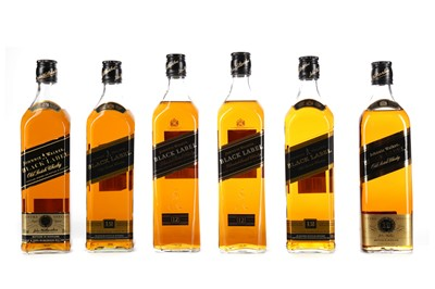 Lot 22 - SIX BOTTLES OF JOHNNIE WALKER BLACK LABEL AGED 12 YEARS