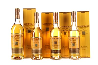 Lot 25 - FOUR BOTTLES OF GLENMORANGIE 10 YEARS OLD