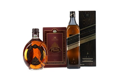 Lot 29 - JOHNNIE WALKER DOUBLE BLACK AND DIMPLE 15 YEARS OLD
