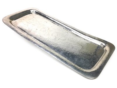 Lot 29 - A LIBERTY & CO HAMMERED PEWTER TRAY