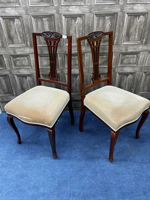 Lot 79 - A LOT OF FOUR MAHOGANY CHAIRS