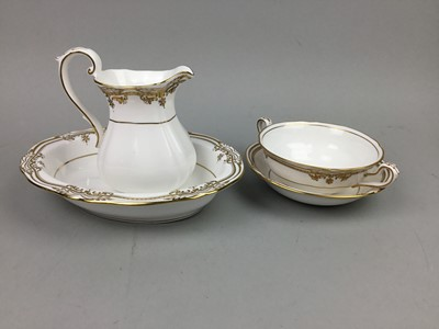 Lot 96 - A SPODE PART DINNER SERVICE AND A FLORAL AND GILT PART TEA SERVICE
