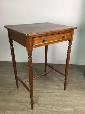 Lot 1614 - A VICTORIAN MAHOGANY OBLONG SIDE TABLE