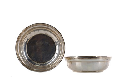 Lot 456 - A PAIR OF GEORGE V SILVER BONBON DISHES