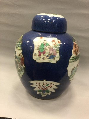Lot 729 - A 19TH CENTURY CHINESE STONEWARE GINGER JAR WITH COVER