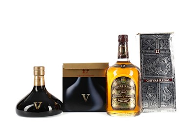 Lot 34 - CHIVAS REVOLVE AGED 17 YEARS AND CHIVAS REGAL 12 YEARS OLD