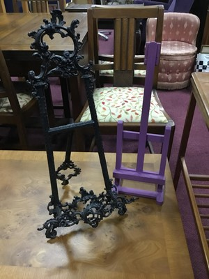 Lot 55 - A LOT OF FOUR PICTURE TABLE TOP EASELS AND TWO MANNEQUINS