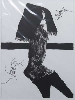 Lot 544 - THE SNEER, A LITHOGRAPH BY PAT DOUTHWAITE
