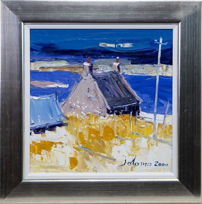 Lot 510 - COTTAGE AND THE MACHAIR, AN OIL BY JOLOMO