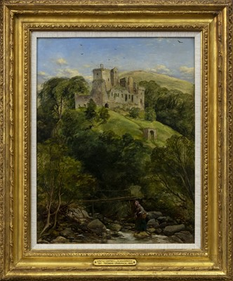 Lot 55 - CASTLE CAMPBELL, CLACKMANNAN, AN OIL ATTRIBUTED TO THOMAS CRESWICK
