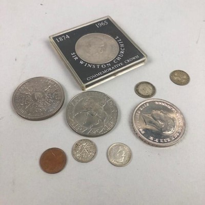 Lot 36 - A COLLETCTION OF SILVER THREE PENNY COINS