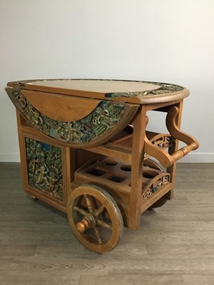 Lot 730 - AN EARLY 20TH CENTURY DRINKS TROLLEY