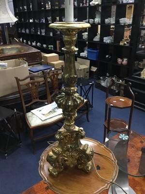 Lot 56 - A GILT TABLE LAMP