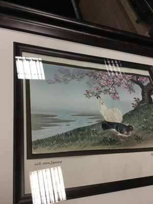 Lot 748 - A 20TH CENTURY JAPANESE WATERCOLOUR BY MATSUMOTO