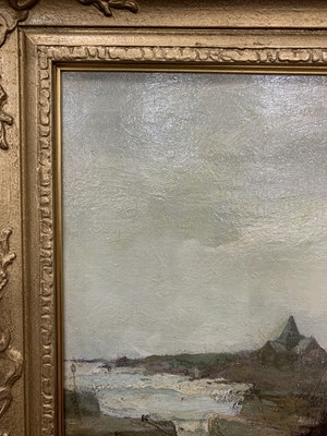 Lot 20 - SAILBOATS IN HARBOUR, AN OIL BY ARTHUR MACDONALD