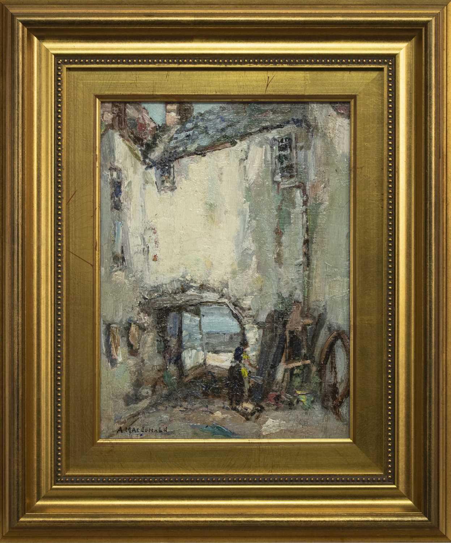 Lot 25 - KIRKCUDBRIGHT, AN OIL BY ARTHUR MACDONALD