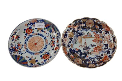 Lot 74 - AN 19TH CENTURY JAPANESE IMARI PLATE AND ANOTHER