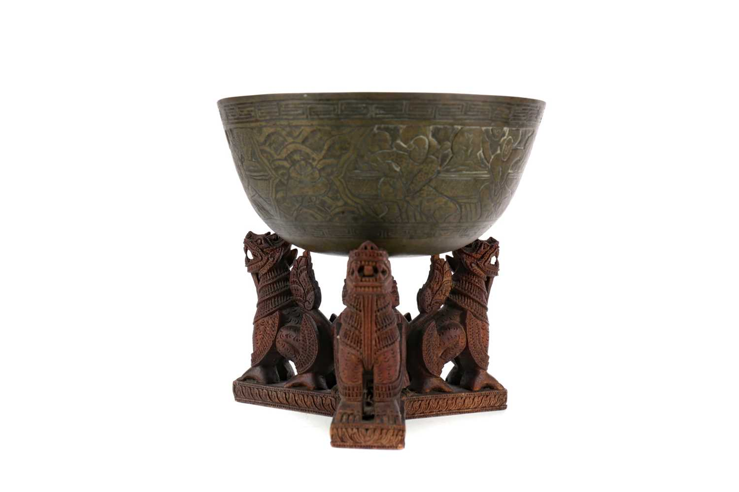 Lot 744 - AN EARLY 20TH CENTURY CHINESE BRONZE BOWL