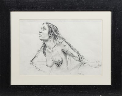 Lot 622 - IT IS TIME, A DETAILED GRAPHITE  DRAWING BY SHAUN KERR