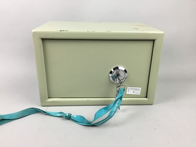 Lot 3 - A MASTER LOCK SAFE AND ANOTHER