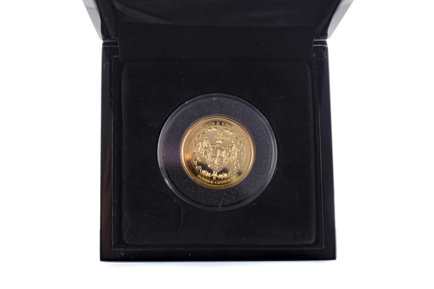Lot 53 - A NINE CARAT GOLD DOUBLE CROWN DATED 2017