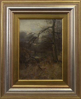 Lot 25 - TREES BY A RIVER, AN OIL BY WILLIAM MILLER FRAZER
