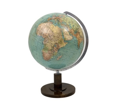 Lot 1641 - A TERRESTRIAL TABLE GLOBE ON STAND