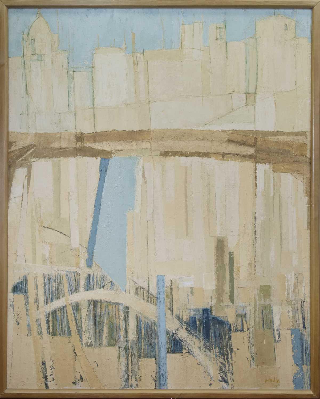 Lot 568 - AN UNTITLED OIL BY JOHN KINGSLEY