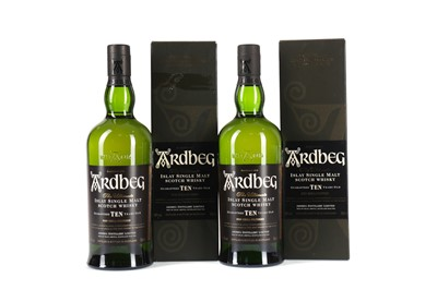 Lot 88 - TWO BOTTLES OF ARDBEG 10 YEARS OLD