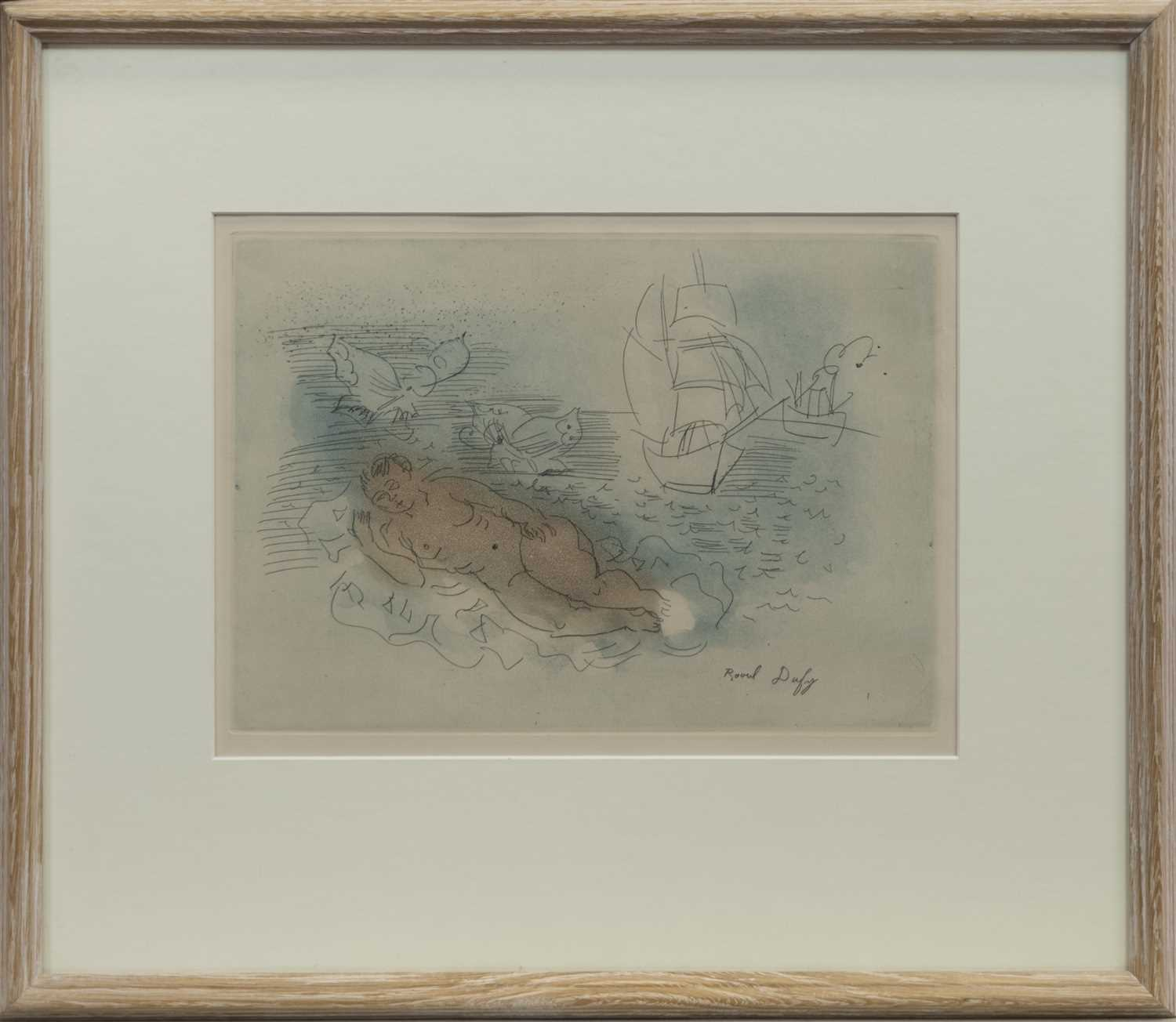 Lot 27 - PETITE BAIGNEUSE AUX PAPILLONS, AN ETCHING AND AQUATINT BY RAOUL DUFY