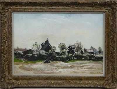 Lot 557 - THE RIGGET HILL, KIPPEN, AN OIL BY MARY ARMOUR