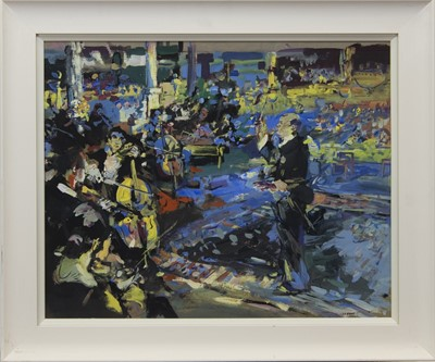 Lot 82 - THE ORCHESTRA, A GOUACHE BY IAN DAVID COOK