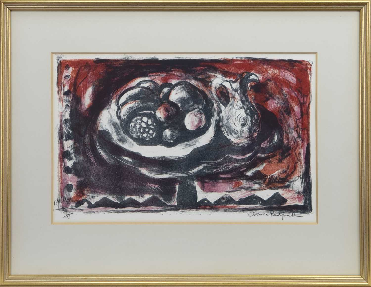 Lot 505 - STILL LIFE WITH JUG, A SIGNED LIMITED EDITION LITHOGRAPH BY ANNE REDPATH