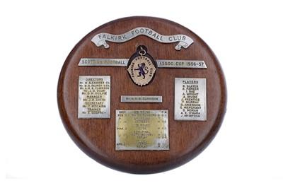 Lot 1707 - FALKIRK F.C. INTEREST - SCOTTISH FOOTBALL ASSOCIATION SCOTTISH CUP GOLD MEDAL 1956-57