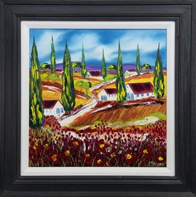 Lot 527 - POPPY FIELDS, SANBUCA DI SICILIA, AN OIL BY JOHN DAMARI