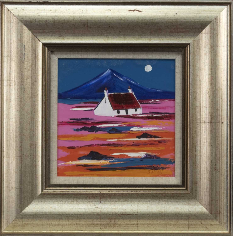 Lot 529 - HIGHLAND CROFT, BENMORE, AN OIL BY JOHN DAMARI