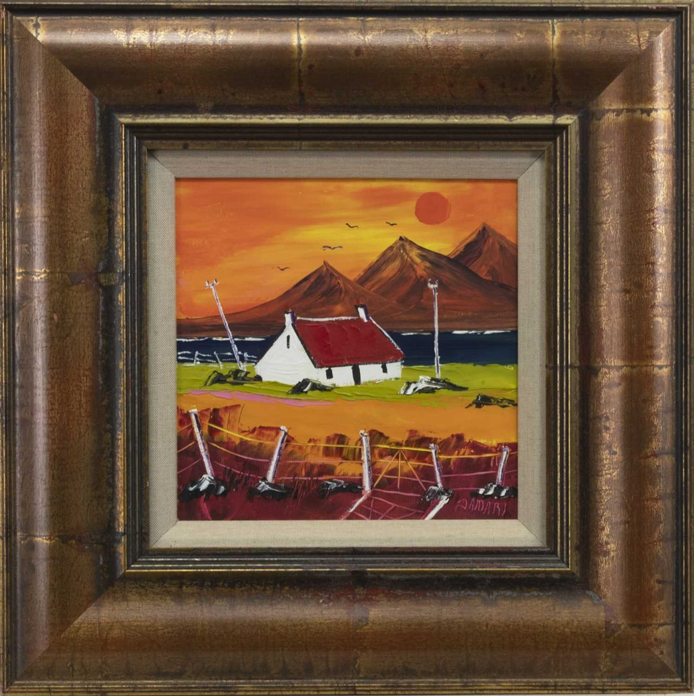 Lot 531 - SUNSET AT THE PAPS OF JURA, AN OIL BY JOHN DAMARI