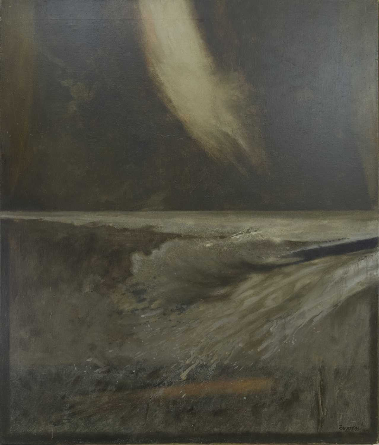 Lot 521 - GREY DAY, AN OIL BY DONALD MORRISON BUYERS
