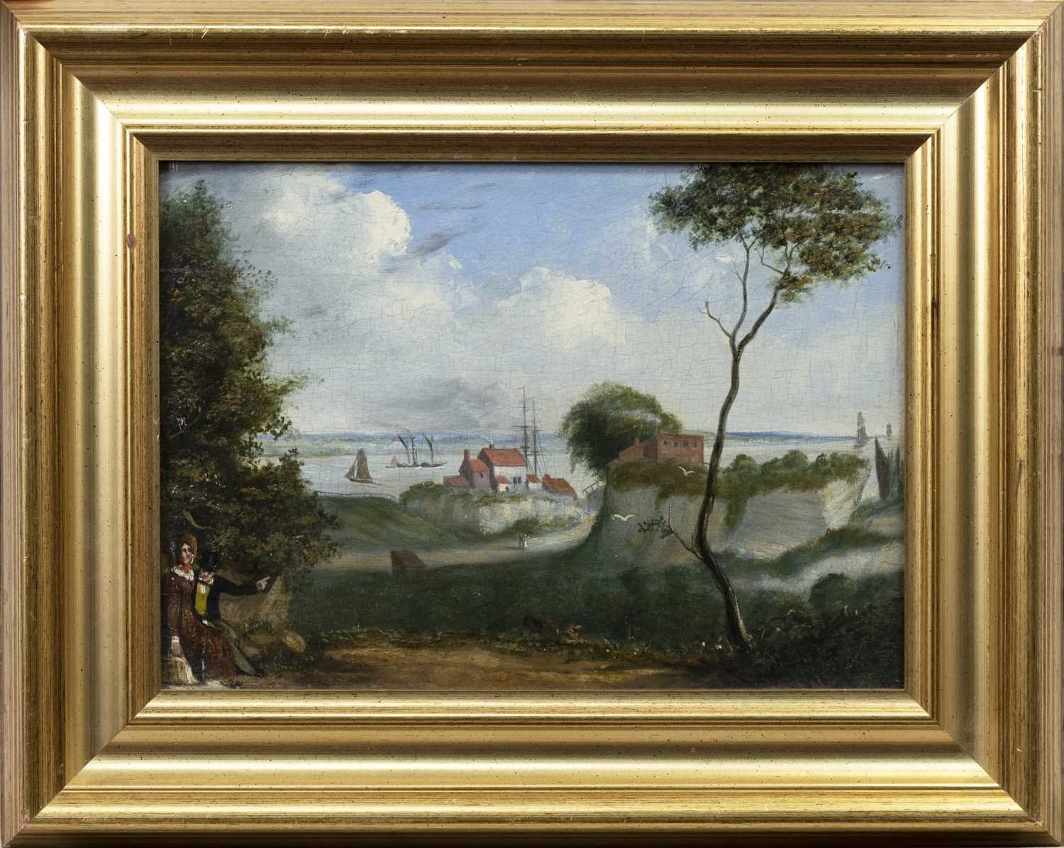 Lot 50 - SHIPS IN HARBOUR, A BRITISH OIL