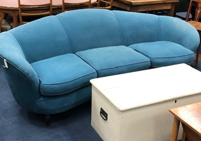 Lot 61 - AN ART DECO STYLE SETTEE