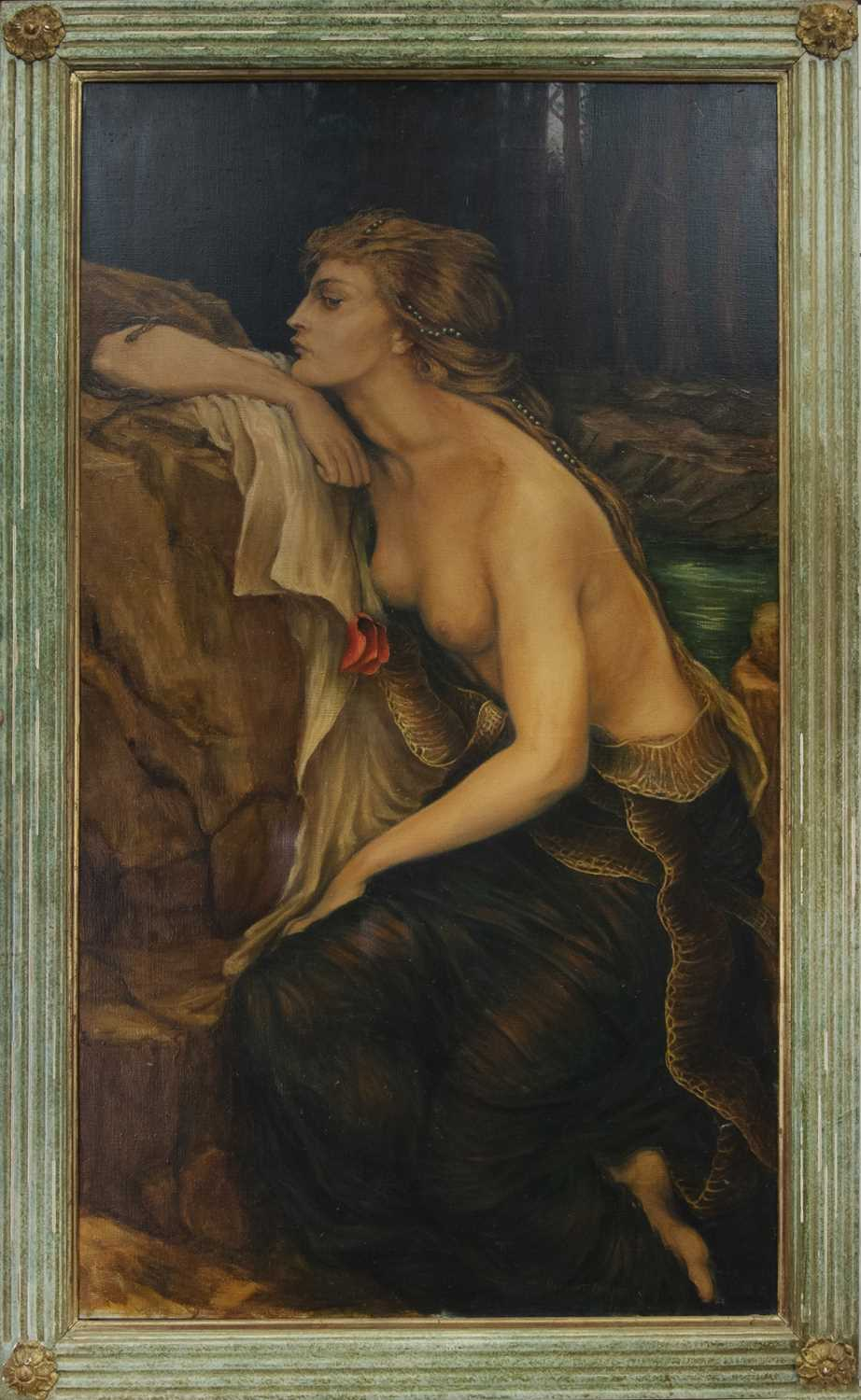 Lot 46 - LILITH, AN OIL ATTRIBUTED TO  HERBERT JAMES DRAPER