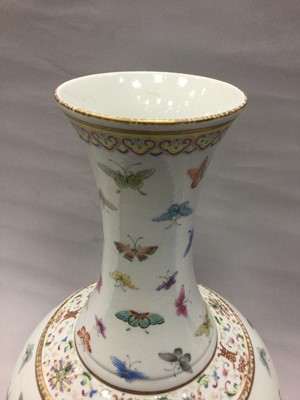 Lot 701 - A CHINESE POLYCHROME VASE